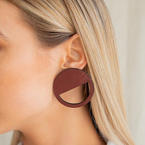 Brookside The Label Earrings - Cut Out Circle Studs