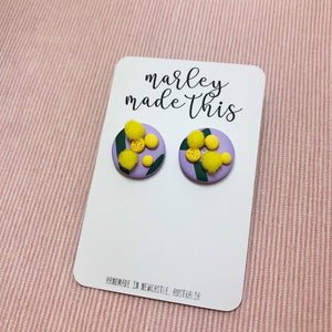 golden wattle sturt desert pea stud polymer clay earrings by marley made this from have you met charlie a gift shop with unique handmade australian gifts in adelaide south australia