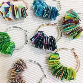 Hummingpea Confetti Hoops - Medium
