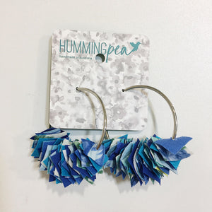 extra large fabric hoop earrings by hummingpea from have you met charlie a gift shop with Australian unique handmade gifts in Adelaide South Australia