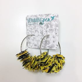 XXL fabric hoop earrings by hummingpea from have you met charlie a gift shop with Australian unique handmade gifts in Adelaide South Australia