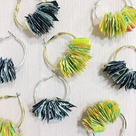 various fabric hoop earrings by hummingpea from have you met charlie a gift shop with Australian unique handmade gifts in Adelaide South Australia