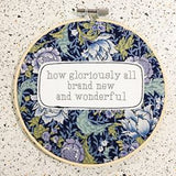 Hummingpea Fabric Hoop Wall Quotes - X- Large