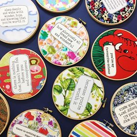 various embroidery hoop wall decor by hummingpea from have you met charlie a gift shop with Australian unique handmade gifts in Adelaide South Australia