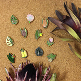 various flower & plant enamel pins by patch press from have you met charlie a gift shop with Australian unique handmade gifts in Adelaide South Australia