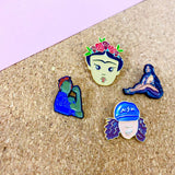 various people enamel pins by patch press from have you met charlie a gift shop with Australian unique handmade gifts in Adelaide South Australia