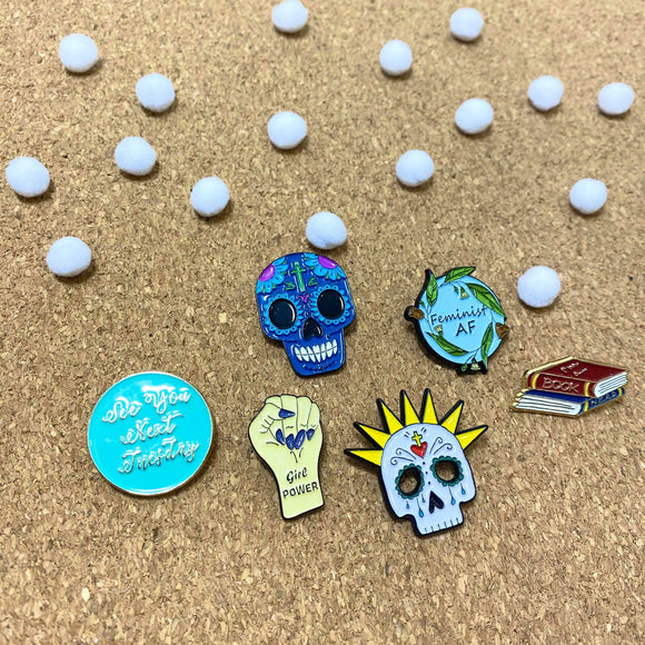 various enamel pins by patch press from have you met charlie a gift shop with Australian unique handmade gifts in Adelaide South Australia