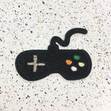 game controller iron on patch by patch press from have you met charlie a gift shop with Australian unique handmade gifts in Adelaide South Australia