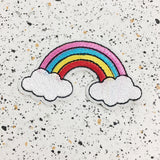 rainbow iron on patch by patch press from have you met charlie a gift shop with Australian unique handmade gifts in Adelaide South Australia