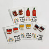 jam nutella and sriracha stud earrings by marlo & the sailor from have you met charlie a gift shop with unique handmade australian gifts in adelaide south australia