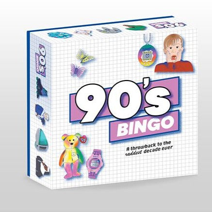 90's themed bingo game from have you met charlie? a unique gift shop in adelaide south australia