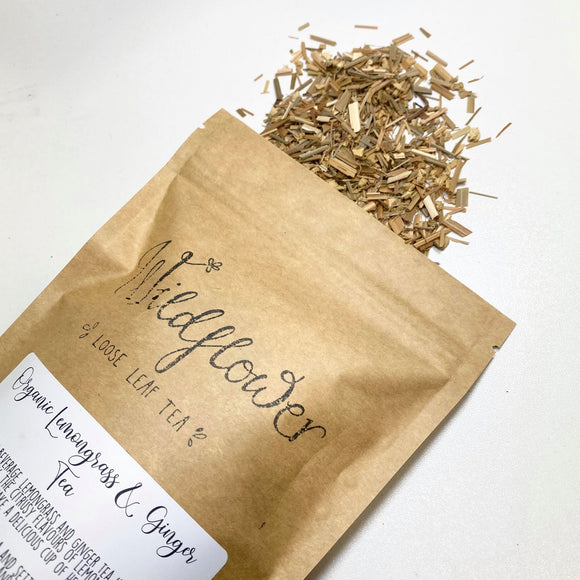 Wildflower Loose Leaf Tea - Lemongrass & Ginger from have you met charlie a gift shop with Australian unique handmade gifts in Adelaie South Australia