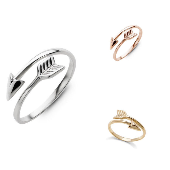 Sterling Silver Stacker Ring - Wrap Around Arrow