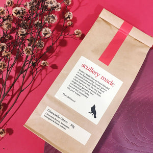packaging chamomile citron loose leaf tea by scullery made tea from have you met charlie a gift shop with unique australian gifts in adelaide south australia