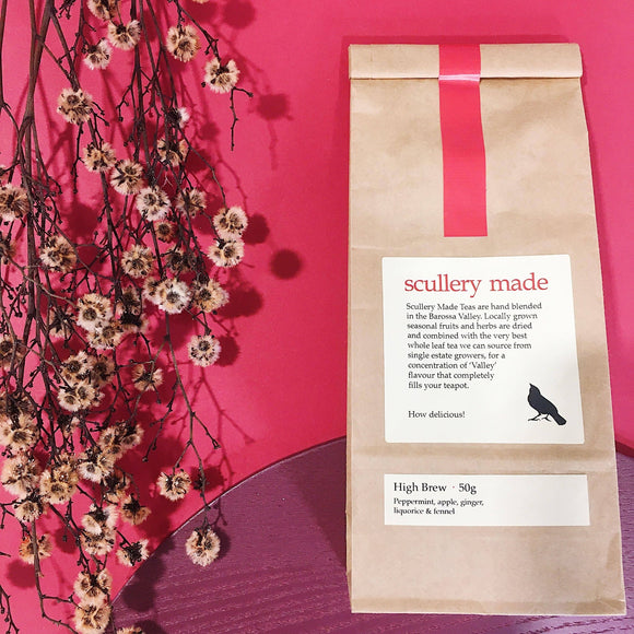 packaging high brew loose leaf tea by scullery made tea from have you met charlie a unique gift shop with australian handmade gifts in Adelaide South Australia
