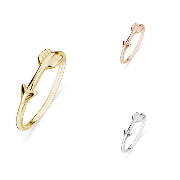 Simple Sterling Silver stacker ring with arrow detail. Also available in Rose Gold and Gold plated Sterling Silver from unique gift shop have you met charlie in adelaide south australia