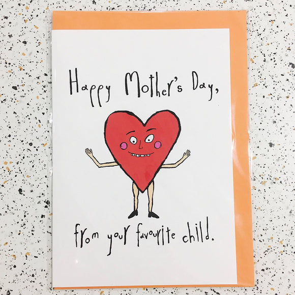 mothers day heart funny greeting card by orange forest from have you met charlie a gift shop with unique handmade australian gifts in adelaide south australia