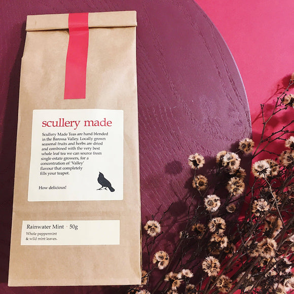 packaging Rainwater mint loose leaf tea by scullery made tea from have you met charlie a unique gift shop with australian handmade gifts in adelaide south australia