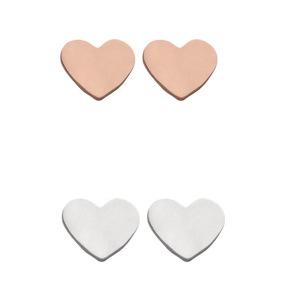 Beautiful little Sterling Silver love heart studs that are perfect for every day wear. Also available in Rose Gold plated Sterling Silver from unique gift shop have you met charlie in adelaide south australia
