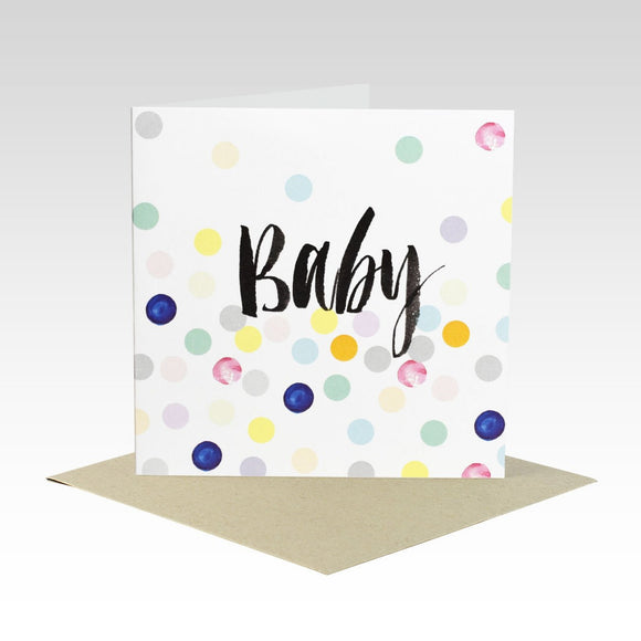 Rhi Creative Greeting Card - Baby Pastel Spot from have you met charlie a gift shop with Australian unique handmade gifts in Adelaide South Australia