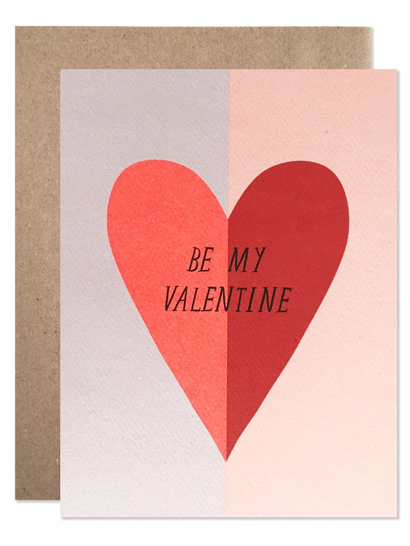 Hartland Brooklyn Card - Be My Valentine Heart