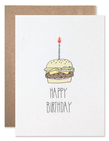 Hartland Brooklyn Card - Happy Birthday Hamburger