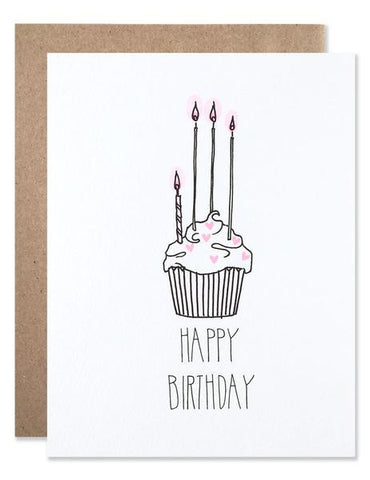Hartland Brooklyn Card - Happy Birthday Cupcake