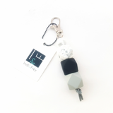 monochrome hexi key ring by indi & frey from have you met charlie an australian gitt store selling handmade unique gifts