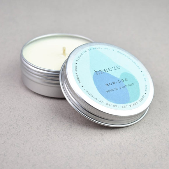 bon lux travel tin scanted soy wax candle from have you met charlie a unique gift shop in adelaide south australia