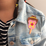 bubble o bill iron on patch by missy minzy from have you met charlie a gift shop with Australian unique handmade gifts in Adelaide South Australia