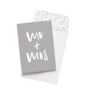 Emma Kate Co Greeting Card - Mr + Mrs