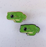 green frog enamel pins by patch press from have you met charlie a gift shop with Australian unique handmade gifts in Adelaide South Australia
