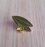 yellow gum enamel pin by patch press from have you met charlie a gift shop with Australian unique handmade gifts in Adelaide South Australia