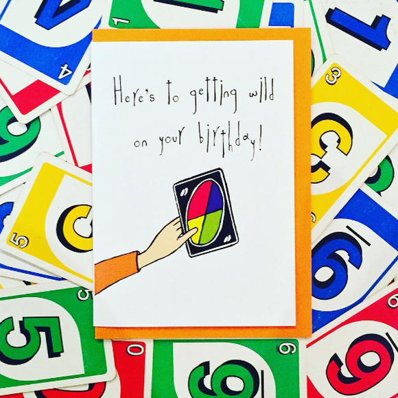 wild uno birthday funny greeting card by orange forest from have you met charlie a gift shop with unique australian handmade gifts in adelaide south australia