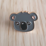 grey koala enamel pin by patch press from have you met charlie a gift shop with Australian unique handmade gifts in Adelaide South Australia