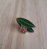 red gum enamel pin by patch press from have you met charlie a gift shop with Australian unique handmade gifts in Adelaide South Australia