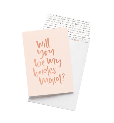 Emma Kate Co Greeting Card - Will You Be My Bridesmaid?