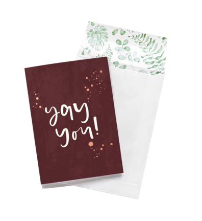 Emma Kate Co Greeting Card - Yay You!