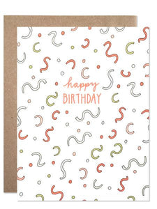 Hartland Brooklyn Card - Happy Birthday Confetti Explosion