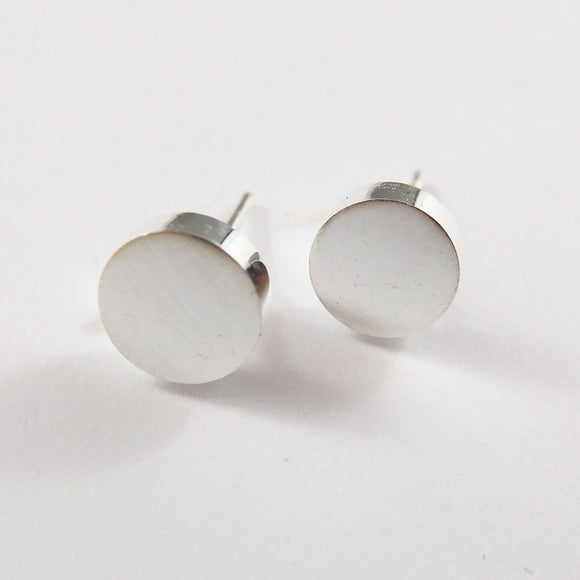 simple stainless steelround circle disk earrings from have you met charlie a unique gift shop in adelaide south australia