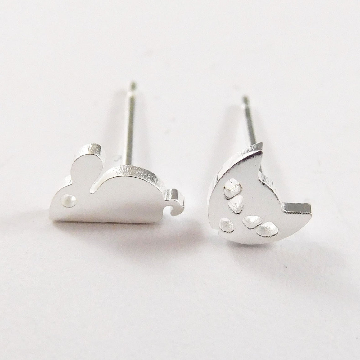 Stainless Steel Earrings - Cat & Mouse