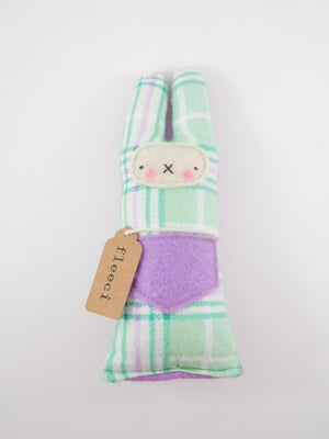 Fleeci Babe Rattle - Mint Tartan