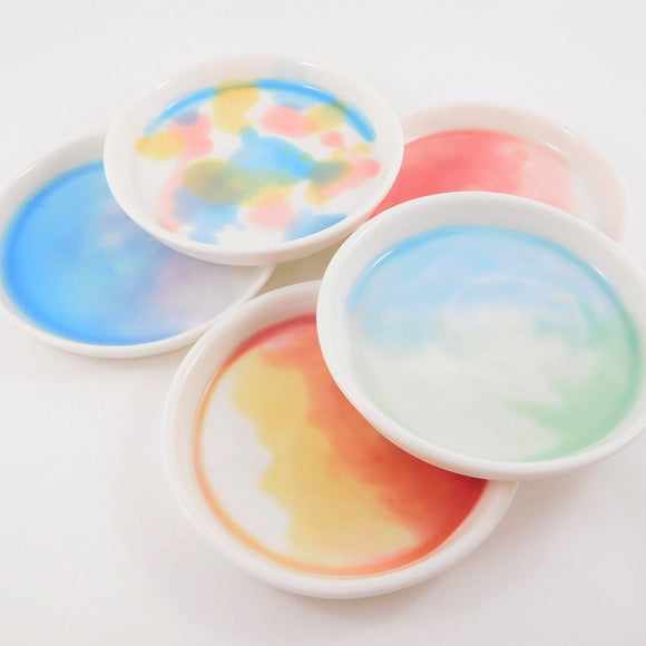 various watercolour porcelain dishes by louise m studio from have you met charlie a gift shop with unique handmade australian gifts in adelaide south australia