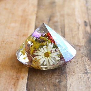 jax and co resin botanical diamond paper weight from have you met charlie a gift shop with Australian unique handmade gifts in Adelaie South Australia