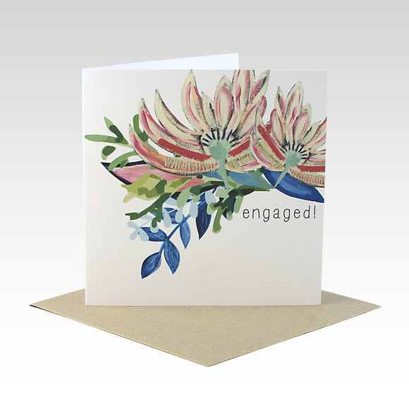 Rhi Creative Greeting Card - Engaged Card from have you met charlie a gift shop with Australian unique handmade gifts in Adelaide South Australia