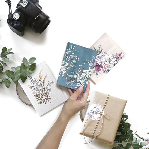 Pocket notebooks by Typoflora in a range of illustrated floral prints and colours available from unique gift shop have you met charlie in adelaide south australia