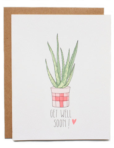 Hartland Brooklyn Card - Get Well Soon
