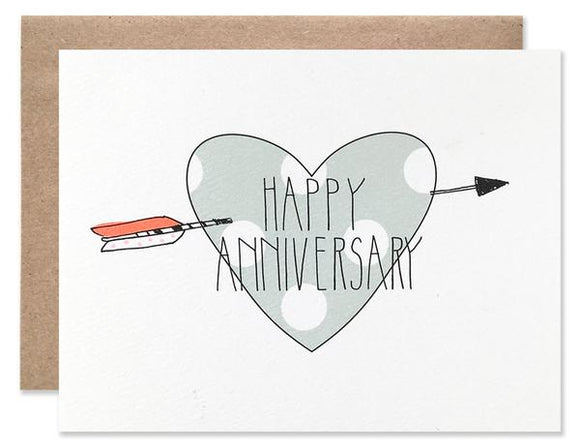 Hartland Brooklyn Card - Happy Anniversary Heart