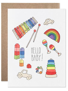 Hartland Brooklyn Card - Hello Baby