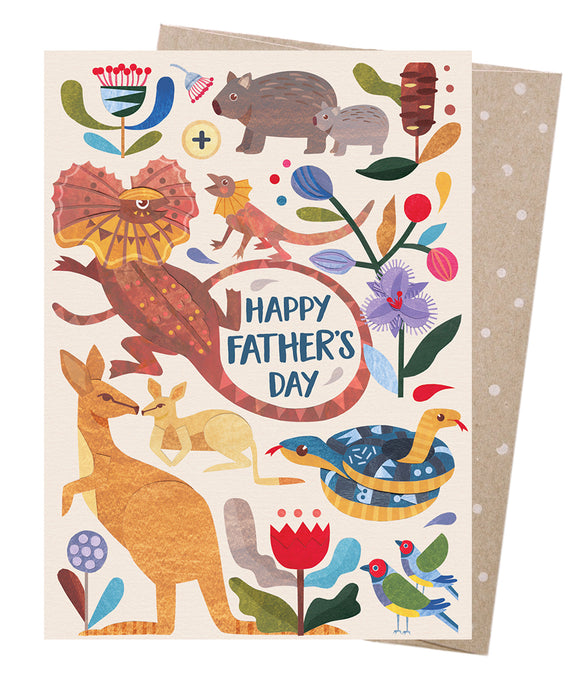 Earth Greetings Card - Father's Day Menagerie